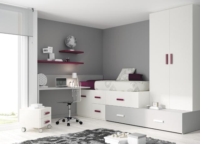 Decoraci n de habitaciones juveniles muebles gregorio - Estanterias para habitacion infantil ...