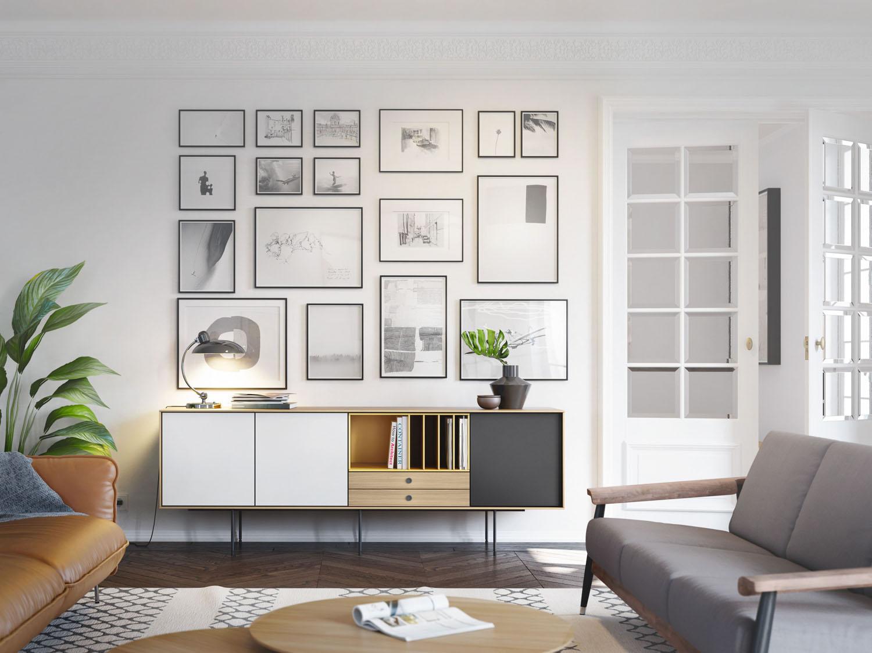composición láminas tendencia decorativa