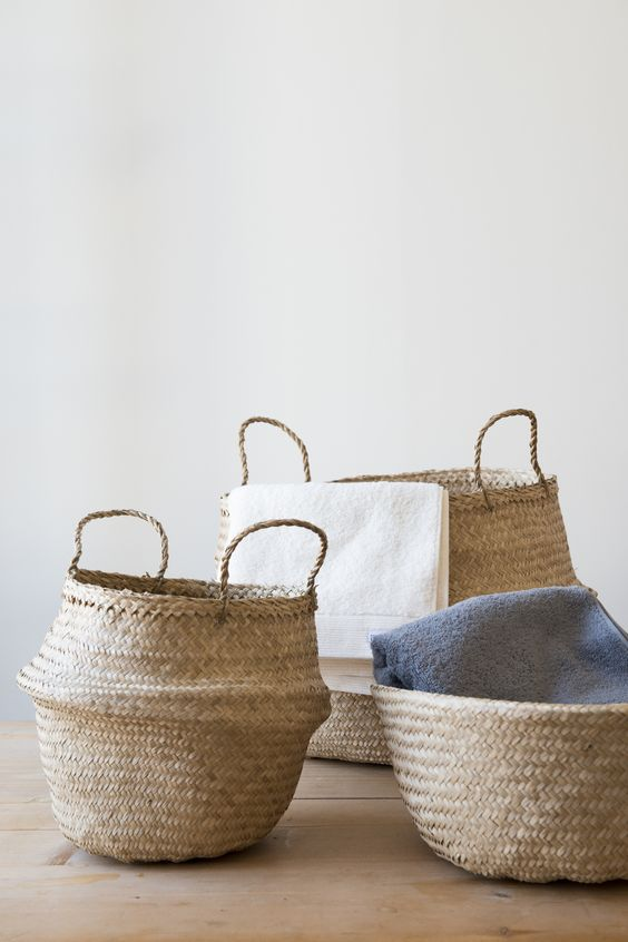 cesta tailandesa o de mimbre como tendencia decorativa